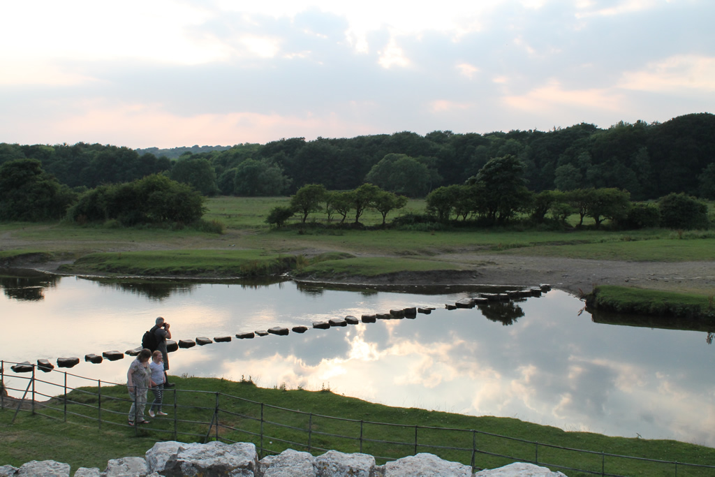 Stepping Stones By Ogmore Castle